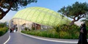 Azerbaijan leaf shaped roof Expo 2020 Dubai